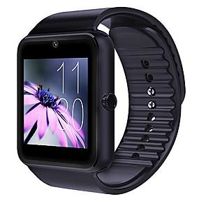 billige Smart Watches-Herre Sportsur Digital Watch Digital Silikone Sort Kalender Kronograf LCD Digital Afslappet Mode - Sort Sølv Rød / tachymeter