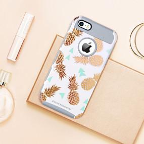 levne iPhone pouzdra-BENTOBEN Carcasă Pro Apple Pouzdro iPhone 5 Galvanizované / Průsvitný / Vzor Zadní kryt Jídlo / Ovoce Měkké TPU / PC pro iPhone SE / 5s / iPhone 5