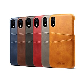olcso iPhone tokok-Case Kompatibilitás Apple iPhone XS / iPhone XR Kártyatartó / Ütésálló Fekete tok Egyszínű Kemény PU bőr mert iPhone XS / iPhone XR / iPhone XS Max