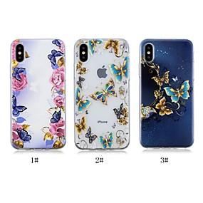 abordables Coques d'iPhone-Coque Pour Apple iPhone X / iPhone 8 Plus Motif Coque Papillon Flexible TPU pour iPhone X / iPhone 8 Plus / iPhone 8