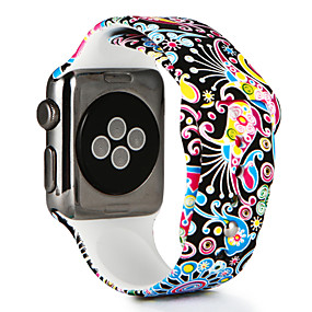 Недорогие Рекомендуемые-Ремешок для часов для Apple Watch Series 4/3/2/1 Apple Спортивный ремешок / Современная застежка силиконовый Повязка на запястье