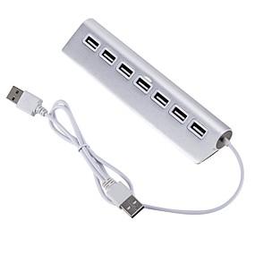 billige USB-hubs og kontakter-USB 2.0 to USB 2.0 USB Hub 7 Havne Ultra Slim / OTG