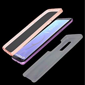voordelige Galaxy S7 Edge Hoesjes / covers-hoesje Voor Samsung Galaxy S9 / S9 Plus / S8 Plus Transparant Volledig hoesje Effen Hard TPU