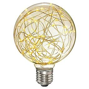 ieftine Lămpi Cu Filament LED-1 buc 3 W Bec Filet LED 200-300 lm E26 / E27 G95 33 LED-uri de margele SMD Decorativ Înstelat Alb Cald 85-265 V / RoHs