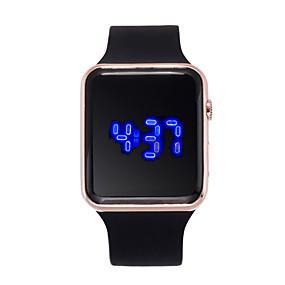 abordables Relojes Digital Mujer-Mujer Reloj Digital Reloj cuadrado Digital Silicona Negro 30 m Creativo LCD Digital Moda - Morado Fucsia Oro Rosa