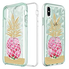 abordables Coques d'iPhone-BENTOBEN Coque Pour Apple iPhone X / iPhone XS Antichoc / Plaqué / Motif Coque Nourriture / Fruit / Fleur Dur TPU / PC pour iPhone XS / iPhone X