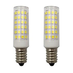 זול נורות תירס לד-4w מיני e14 הוביל תירס אורות 2835 smd 78 הוביל עבור הבית תאורה נברשת frigerator ac 220-240v חם / קר לבן (2 יח ')
