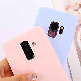 voordelige Galaxy S7 Hoesjes / covers-hoesje Voor Samsung Galaxy S9 / S9 Plus / S8 Plus Ultradun Achterkant Effen Zacht TPU