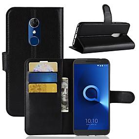 ieftine Accesorii Telefon Mobil-Maska Pentru Alcatel Alcatel 3 / Alcatel 1 Portofel / Titluar Card / Întoarce Carcasă Telefon Mată Greu PU piele pentru Alcatel 5044r / Alcatel 3 / Alcatel 3C