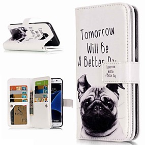 halpa Galaxy S -sarjan kotelot / kuoret-Etui Käyttötarkoitus Samsung Galaxy S9 Plus / S8 Lomapkko / Korttikotelo / Tuella Suojakuori Koira Kova PU-nahka varten S9 / S9 Plus / S8 Plus