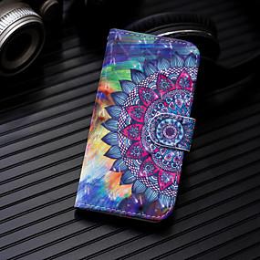 voordelige Galaxy J5(2017) Hoesjes / covers-hoesje Voor Samsung Galaxy J7 (2017) / J6 / J5 (2017) Portemonnee / Kaarthouder / met standaard Volledig hoesje Mandala Hard PU-nahka