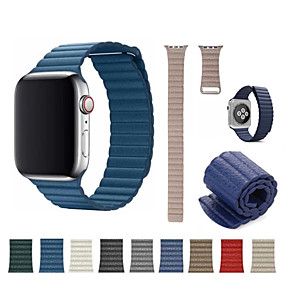 billige Apple Watch Series 3/2/1-Urrem for Apple Watch Series 4/3/2/1 Apple Sportsrem Ægte læder Håndledsrem