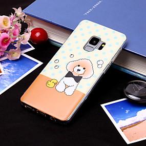 voordelige Galaxy S7 Hoesjes / covers-hoesje Voor Samsung Galaxy S9 / S9 Plus / S8 Plus IMD / Patroon Achterkant Hond Zacht TPU
