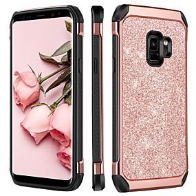 halpa Galaxy S -sarjan kotelot / kuoret-BENTOBEN Etui Käyttötarkoitus Samsung Galaxy S9 Plus / S9 Iskunkestävä / Pinnoitus / Kimmeltävä Takakuori Kimmeltävä Kova TPU / PC varten S9 / S9 Plus / S8
