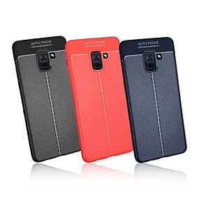 voordelige Galaxy A7(2016) Hoesjes / covers-hoesje Voor Samsung Galaxy A5(2018) / A6 (2018) / A6+ (2018) Ultradun Achterkant Effen Zacht TPU