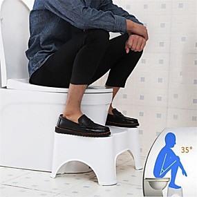 "cheap Bathroom Gadgets-Toilet Squat Stool Bathroom Toilet Stool Bathroom Squatting Stool for Potty Assistance Step Stool for Toilet Posture and Healthy Release Portable Compact Design 7"" 17cm"