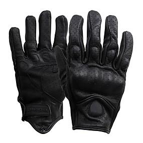 お買い得  オートバイ用手袋-フルフィンガー 男性用 オートバイグローブ レザー 高通気性 / 耐摩耗性 / 保護