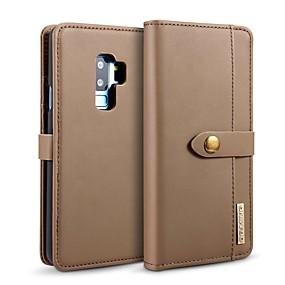 voordelige Galaxy S7 Hoesjes / covers-hoesje Voor Samsung Galaxy S9 / S9 Plus / S8 Plus Kaarthouder / Schokbestendig / met standaard Volledig hoesje Effen Hard aitoa nahkaa