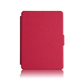 tanie Akcesoria do tabletów-Kılıf Na Kindle / Amazon Osłona tylna / Pełne etui / Etui odporne na wstrząsy Pełne etui Solidne kolory Twardość Skóra PU na