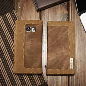 halpa Galaxy S -sarjan kotelot / kuoret-CaseMe Etui Käyttötarkoitus Samsung Galaxy S7 Lomapkko / Korttikotelo / Tuella Suojakuori Yhtenäinen Kova tekstiili varten S7