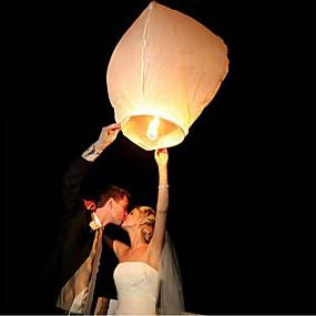 economico Decorazioni e forniture per feste-10 pz / set multi colore di alta qualità cinese lanterna fuoco cielo volare candela lampada per la festa di nozze di compleanno lanterna desiderio lampada lanterne del cielo