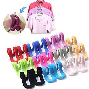 billige Hjem & Køkken-5pcs / lot multifunktionelle flocking mini magiske hængende kroge til tøj rack bøjle snor rejse tøj organizer