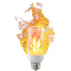 cheap Novelty Lighting-2018 NEW LED flame Novelty Lighting lamp 5W 9W AC85-265V 1400-1600K third gear mode simulation flame dynamic light
