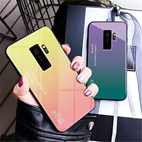 voordelige Galaxy S7 Edge Hoesjes / covers-hoesje Voor Samsung Galaxy S9 / S9 Plus / S8 Plus Spiegel Achterkant Kleurgradatie Hard Gehard glas