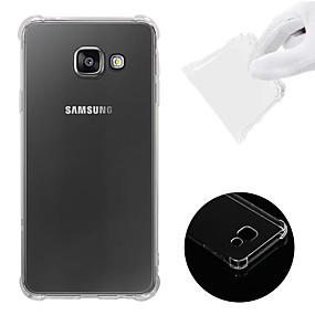 voordelige Galaxy A3(2016) Hoesjes / covers-hoesje Voor Samsung Galaxy A3(2016) Schokbestendig / Transparant Achterkant Effen Zacht TPU