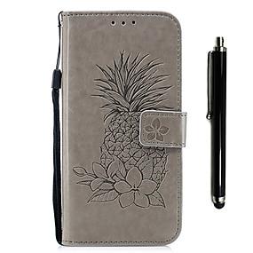 voordelige Galaxy S7 Hoesjes / covers-hoesje Voor Samsung Galaxy S9 / S9 Plus / S8 Plus Portemonnee / Kaarthouder / met standaard Volledig hoesje Fruit / Bloem Hard PU-nahka