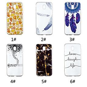 voordelige Galaxy J5(2017) Hoesjes / covers-hoesje Voor Samsung Galaxy J7 V / J7 (2017) / J7 (2018) Patroon Achterkant Voedsel / Woord / tekst / Veren Zacht TPU