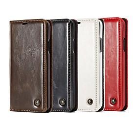 Недорогие Чехлы и кейсы для Galaxy S5 Mini-Кейс для Назначение SSamsung Galaxy S9 / S9 Plus / S8 Plus Кошелек / Бумажник для карт / со стендом Чехол Однотонный / Плитка Твердый Кожа PU