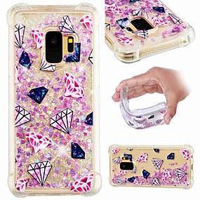 voordelige Galaxy S7 Edge Hoesjes / covers-hoesje Voor Samsung Galaxy S9 / S9 Plus / S8 Plus Schokbestendig / Stromende vloeistof / Transparant Achterkant Landschap / Glitterglans Zacht TPU