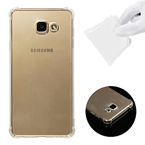 voordelige Galaxy A7(2016) Hoesjes / covers-hoesje Voor Samsung Galaxy A7(2016) Schokbestendig / Transparant Achterkant Effen Zacht TPU