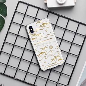 abordables Coques d'iPhone-Coque Pour Apple iPhone XR / iPhone XS Max Motif Coque Lignes / Vagues / Paysage / Bande dessinée Flexible TPU pour iPhone XS / iPhone XR / iPhone XS Max