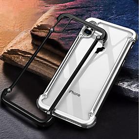 olcso iPhone tokok-oatsbasf Case Kompatibilitás Apple iPhone X Ütésálló / Jeges / DIY Védőkeret Egyszínű Kemény Alumínium mert iPhone X