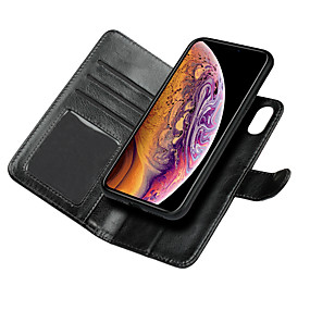 abordables Coques d'iPhone-Nillkin Coque Pour Apple iPhone XR / iPhone XS Max Portefeuille / Porte Carte / Avec Support Coque Intégrale Couleur Pleine Dur faux cuir pour iPhone XS / iPhone XR / iPhone XS Max