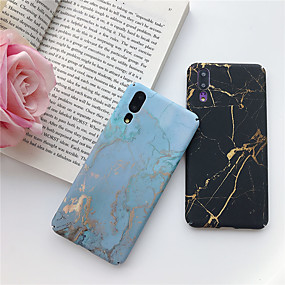 abordables Cool & Fashion Cases pour iPhone-Coque Pour Huawei P20 lite / Huawei Mate 20 Lite Ultrafine / Motif Coque Marbre Dur PC pour Huawei P20 / Huawei P20 Pro / Huawei P20 lite