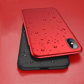 abordables Coques d'iPhone-Coque Pour Apple iPhone XR / iPhone XS Max Antichoc / Ultrafine / Dépoli Coque Intégrale Couleur Pleine Dur PC pour iPhone XS / iPhone XR / iPhone XS Max