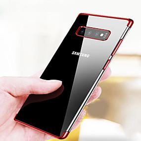 economico Custodie / cover per Galaxy serie S-Custodia Per Samsung Galaxy Galaxy S10 / Galaxy S10 Plus Placcato / Ultra sottile / Transparente Per retro Tinta unita Morbido TPU per S9 / S9 Plus / S8 Plus