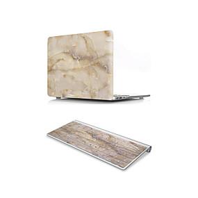 """ราคาถูก เคส กระเป๋า และซองสำหรับ Mac-MacBook Case with Protectors Marble พีวีซี สำหรับ MacBook 12'' / New MacBook Pro 15 นิ้ว / New MacBook Air 13"""" 2018"""
