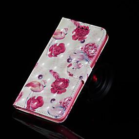 voordelige Galaxy S7 Hoesjes / covers-hoesje Voor Samsung Galaxy S9 / S9 Plus / S8 Plus Portemonnee / Kaarthouder / met standaard Volledig hoesje Flamingo Hard PU-nahka