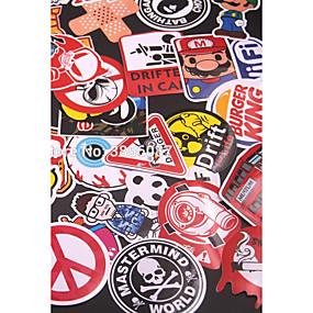 economico Carrozzeria Decorazione e protezione-60pcs misto divertente marca fai da te sexy adesivi per la decorazione domestica del computer portatile adesivo decal frigo frigo skate auto moto bicicletta