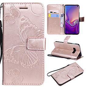 voordelige Galaxy S7 Edge Hoesjes / covers-hoesje Voor Samsung Galaxy S9 / S9 Plus / S8 Plus Kaarthouder / met standaard / Flip Volledig hoesje Vlinder Hard PU-nahka