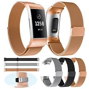 billige Smarturstilbehør-watch band for fitbit opladning 3 / charge 3 se / special editon fitbit milanese loop metal håndledsrem