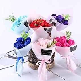 preiswerte Künstliche Blumen-Künstliche Blumen 1 Ast Klassisch Party Pastoralen Stil Rosen Tisch-Blumen