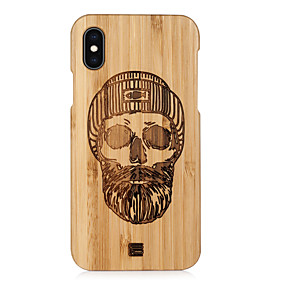 abordables Coques d'iPhone-Coque Pour Apple iPhone XS Max / iPhone 6 Relief Coque Bande dessinée Dur En bois pour iPhone XS / iPhone XR / iPhone XS Max