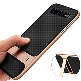 halpa Galaxy S -sarjan kotelot / kuoret-Etui Käyttötarkoitus Samsung Galaxy Galaxy S10 / Galaxy S10 Plus Iskunkestävä / Tuella / Pinnoitus Takakuori Yhtenäinen Kova TPU varten S9 / S9 Plus / S8 Plus