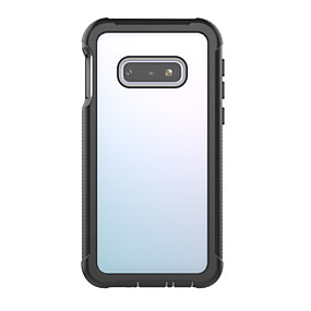 halpa Galaxy S -sarjan kotelot / kuoret-BENTOBEN Etui Käyttötarkoitus Samsung Galaxy Galaxy S10 E Iskunkestävä / Läpinäkyvä Takakuori Yhtenäinen Kova TPU / PC varten Galaxy S10 E