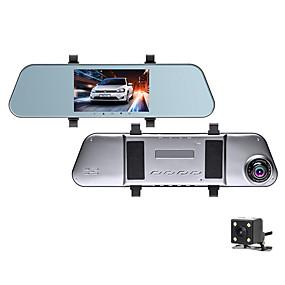 voordelige Auto DVR's-1080p hd achteruitkijkspiegel streaming media auto dvr 170 graden groothoek 5 inch ips dash cam met nachtzicht / g-sensor / parking monitoring autorecorder